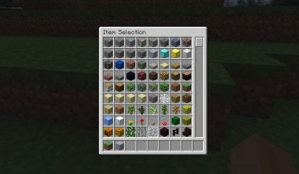 Minecraft Item Selection
